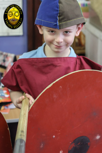 This child is really enjoying his Viking day in school. - Image copyrighted © Gary Waidson. All rights reserved.