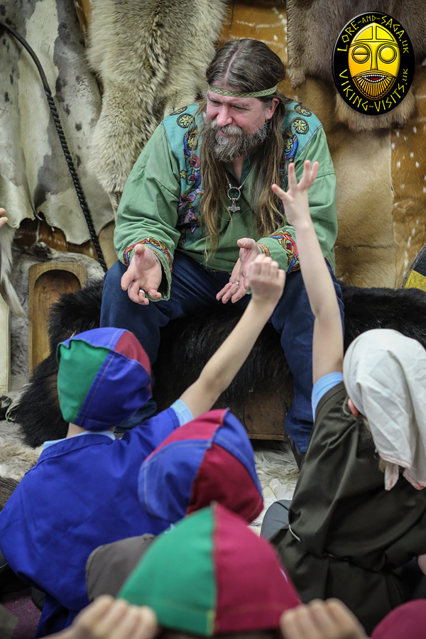 A Viking in school presentation by Lore& Saga - Image copyrighted © Gary Waidson. All rights reserved.